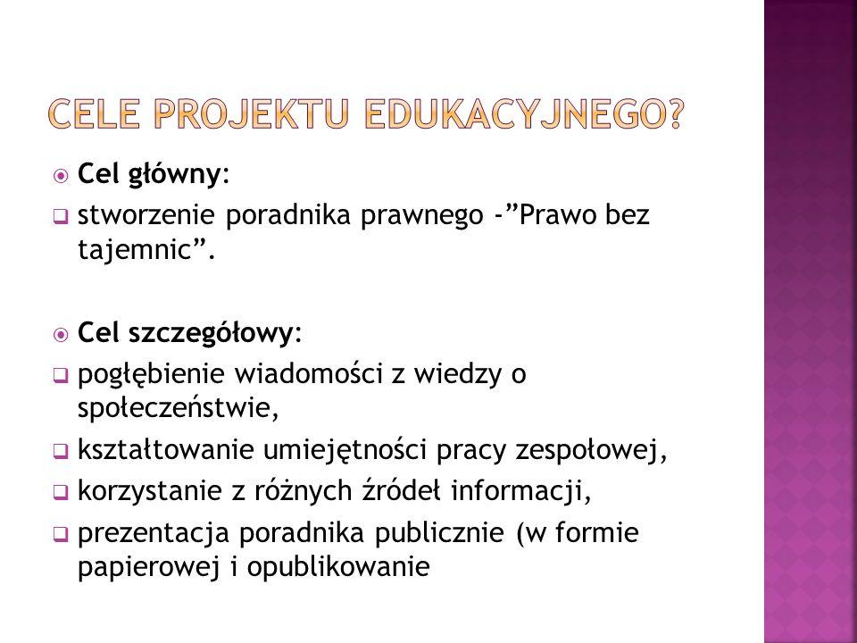 Cele projektu edukacyjnego