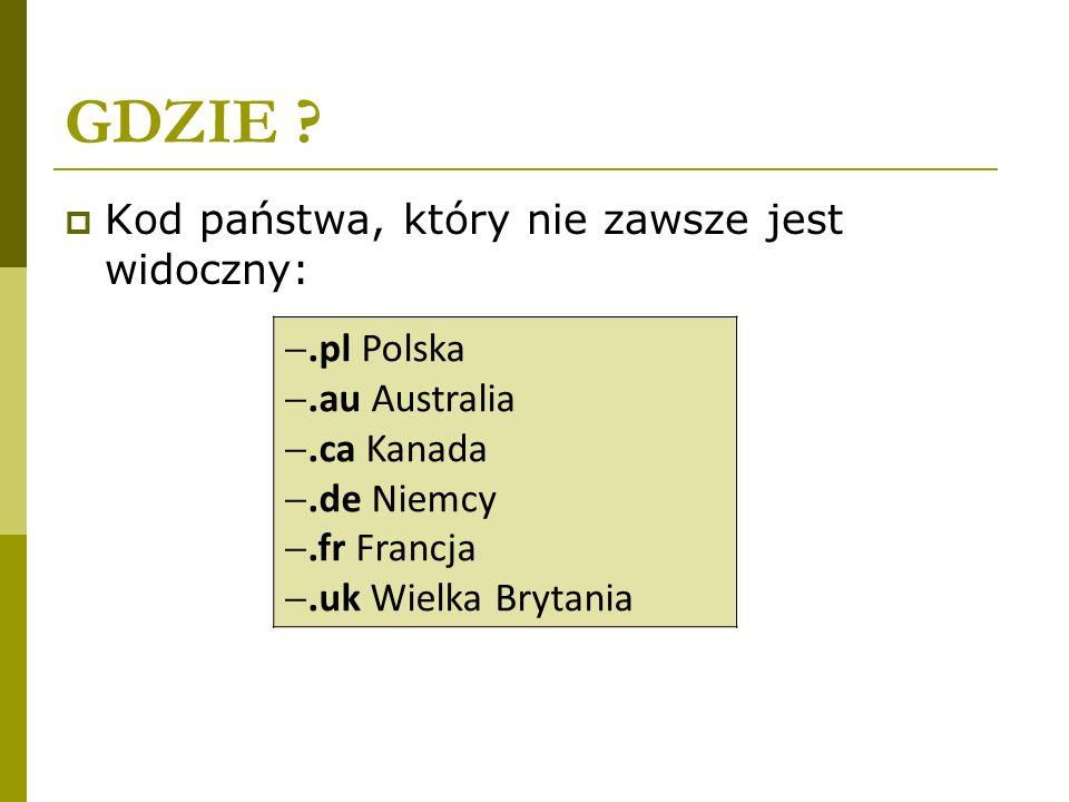 GDZIE .pl Polska .au Australia