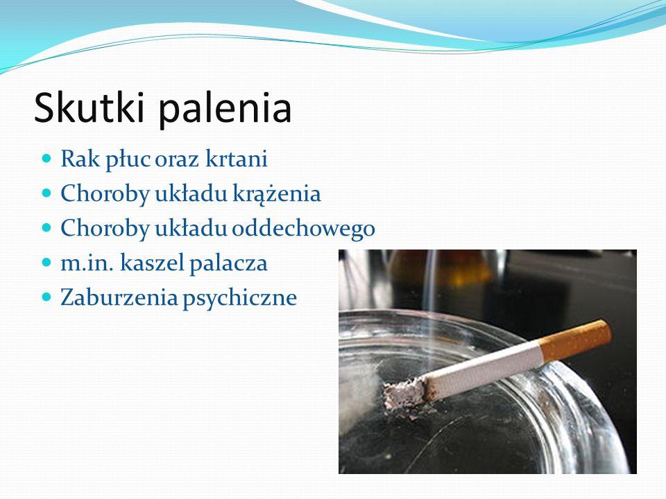 Skutki palenia Rak płuc oraz krtani Choroby układu krążenia