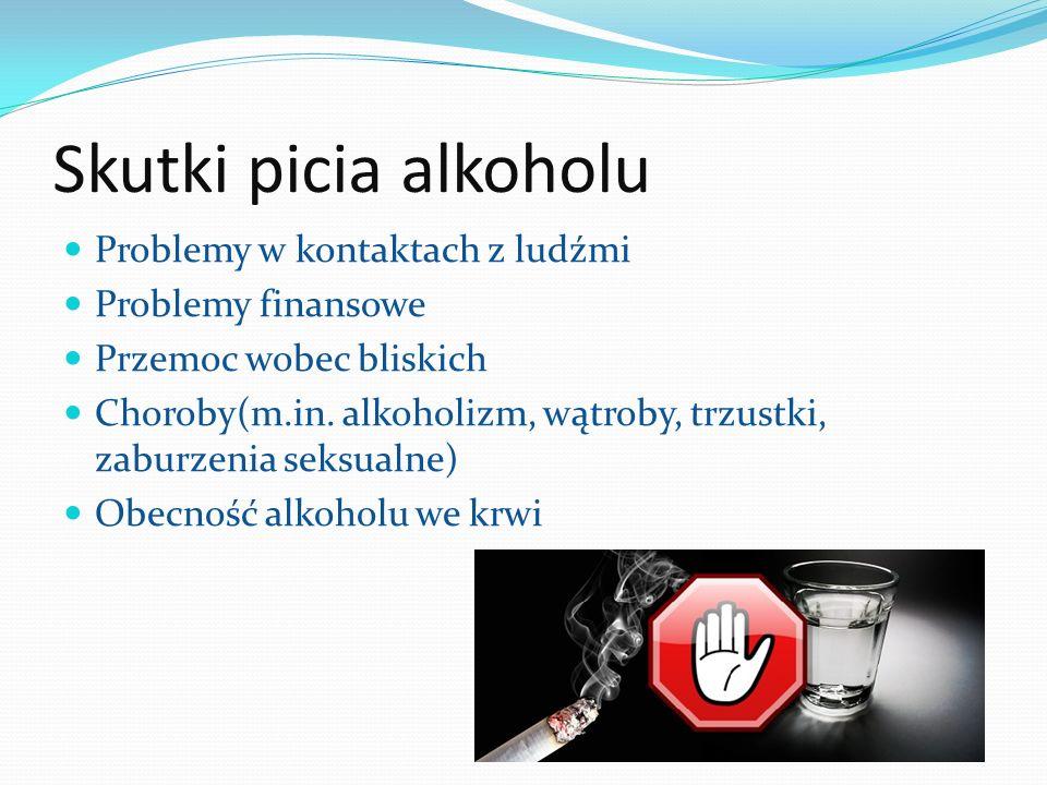 Skutki picia alkoholu Problemy w kontaktach z ludźmi