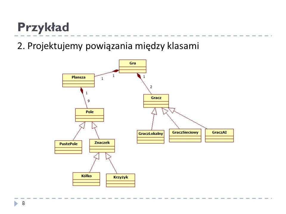 Przykład 2. Projektujemy powiązania między klasami