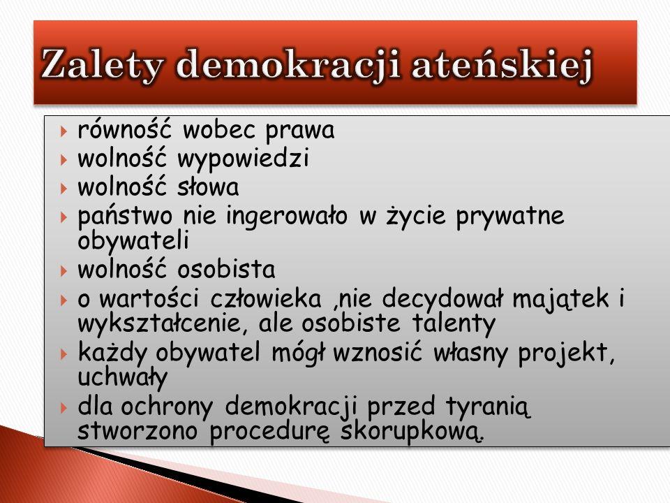 Zalety demokracji ateńskiej
