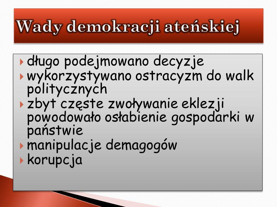 Wady demokracji ateńskiej