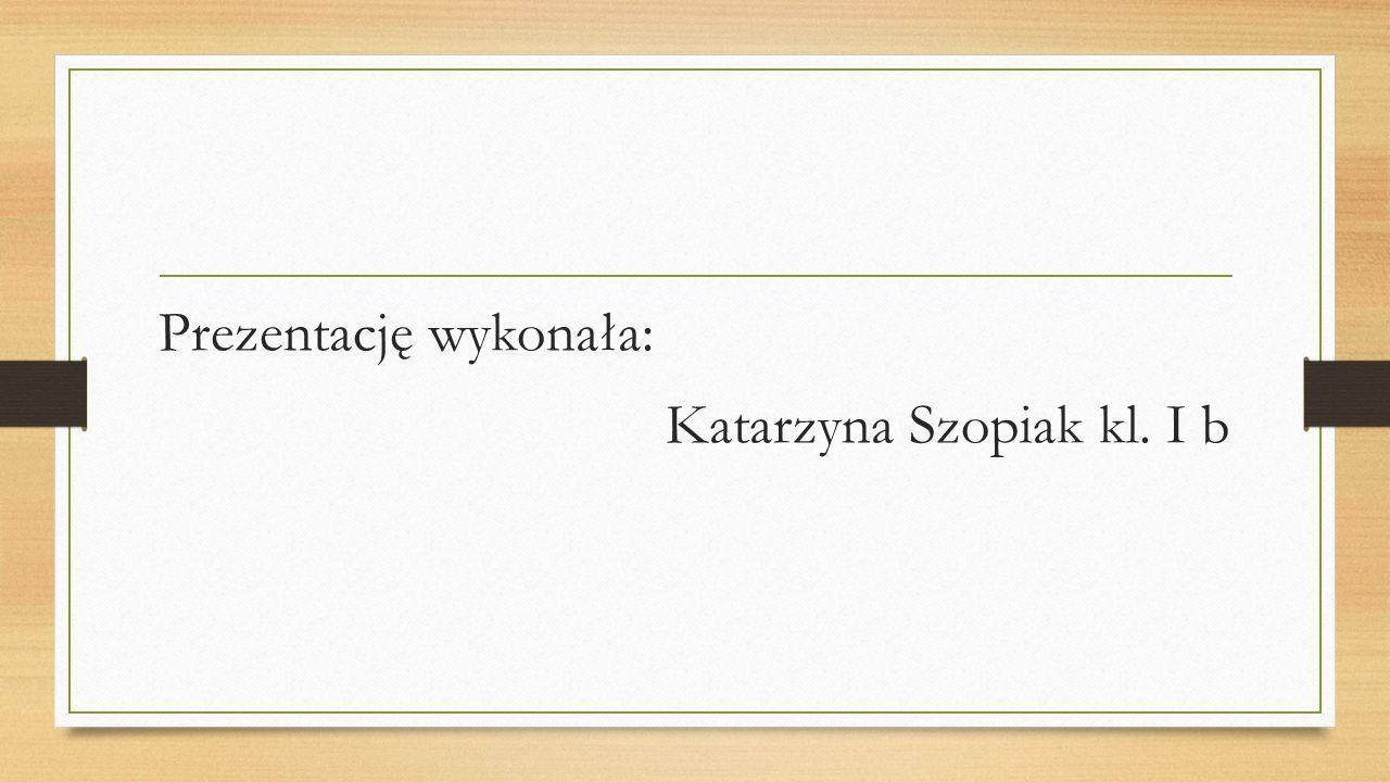 Prezentację wykonała: Katarzyna Szopiak kl. I b