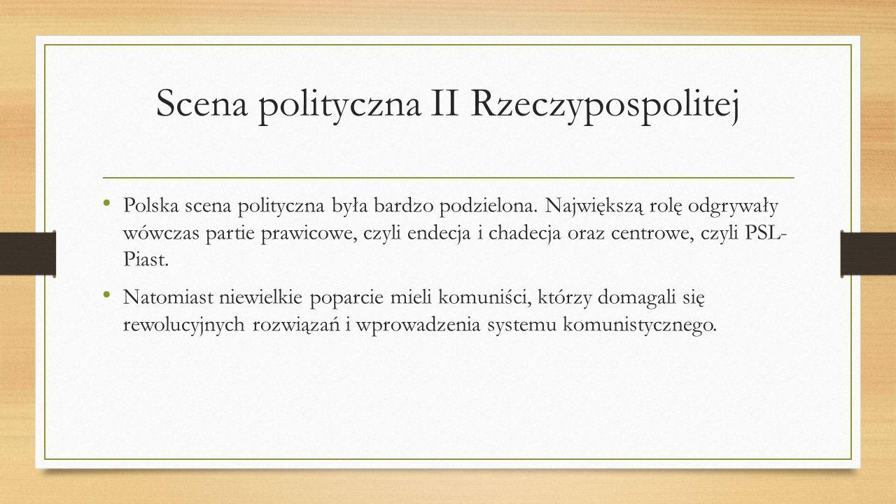 Scena polityczna II Rzeczypospolitej