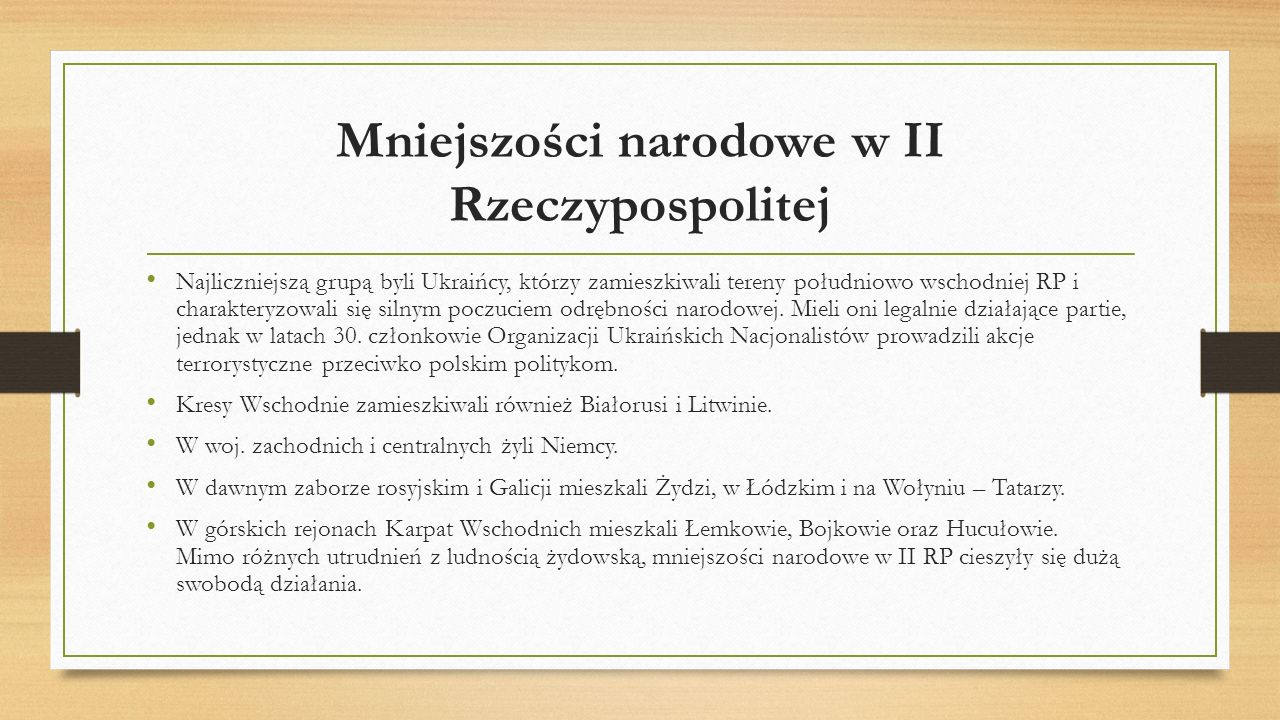 Mniejszości narodowe w II Rzeczypospolitej