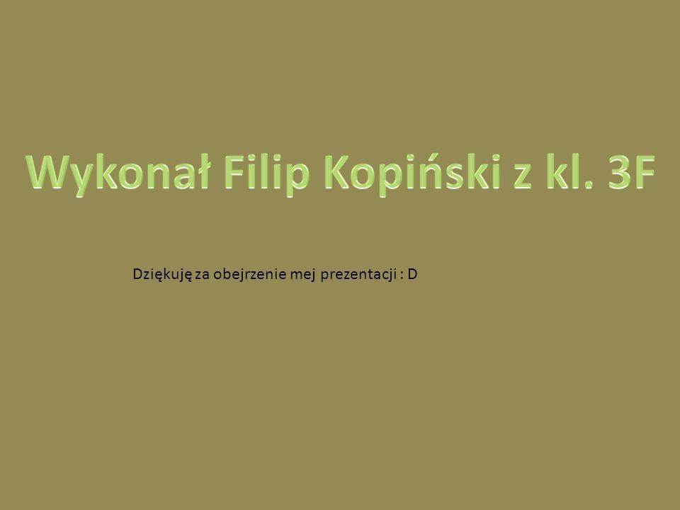 Wykonał Filip Kopiński z kl. 3F
