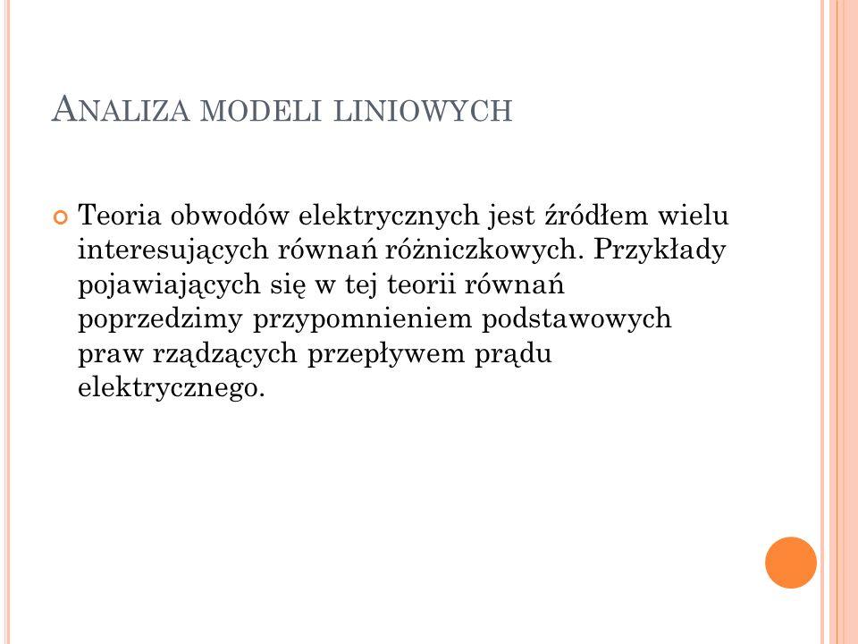 Analiza modeli liniowych