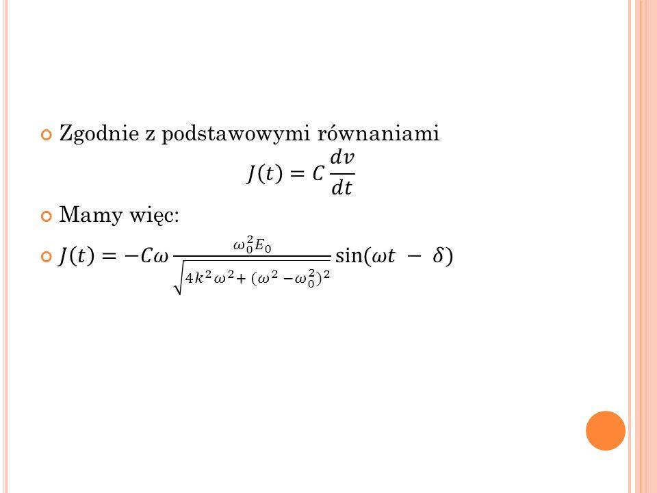 Zgodnie z podstawowymi równaniami