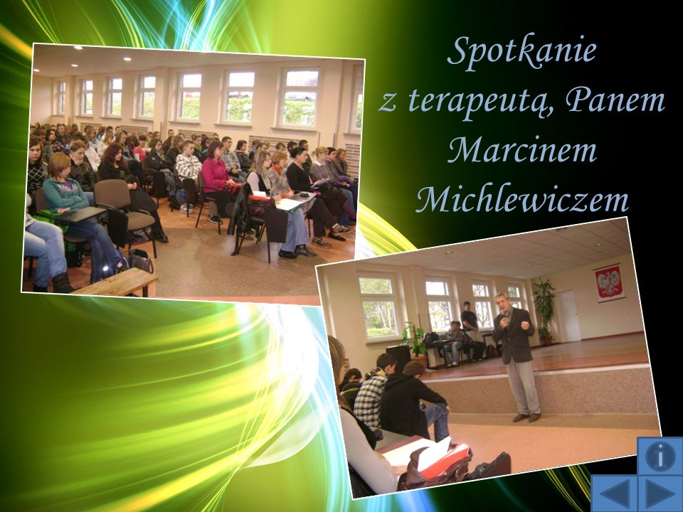 Spotkanie z terapeutą, Panem Marcinem Michlewiczem