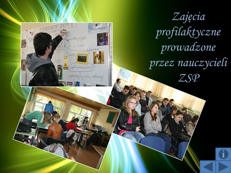 Zajęcia profilaktyczne prowadzone przez nauczycieli ZSP