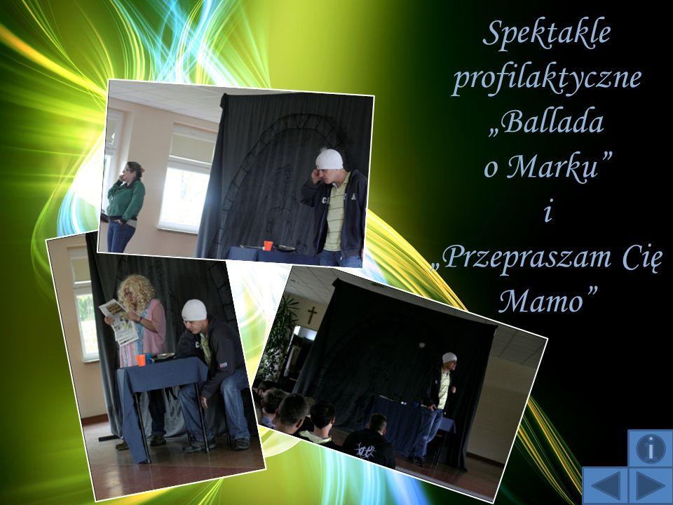 """Spektakle profilaktyczne """"Ballada o Marku i """"Przepraszam Cię Mamo"""