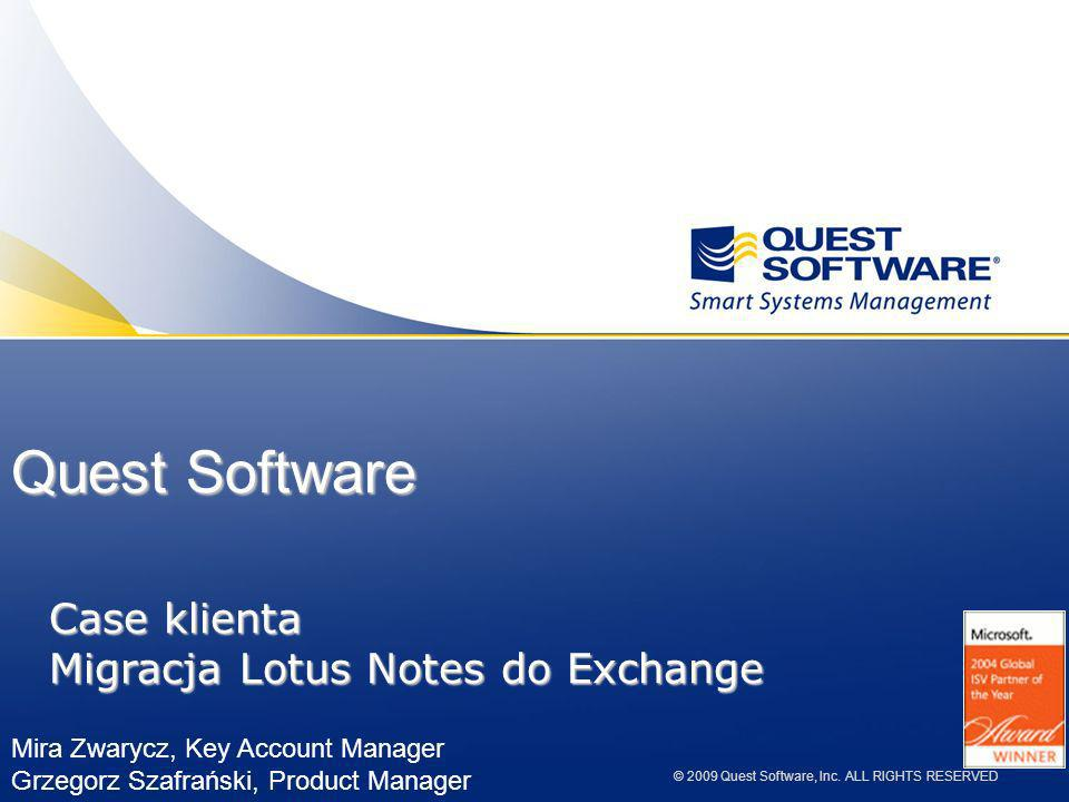 Quest Software Case klienta Migracja Lotus Notes do Exchange