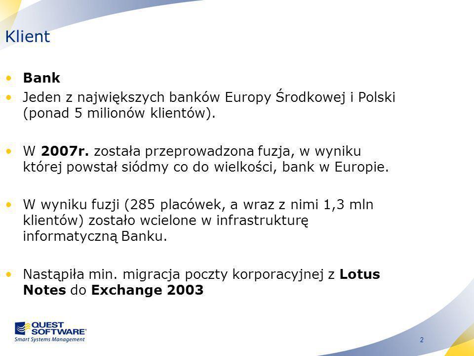 Klient Bank. Jeden z największych banków Europy Środkowej i Polski (ponad 5 milionów klientów).