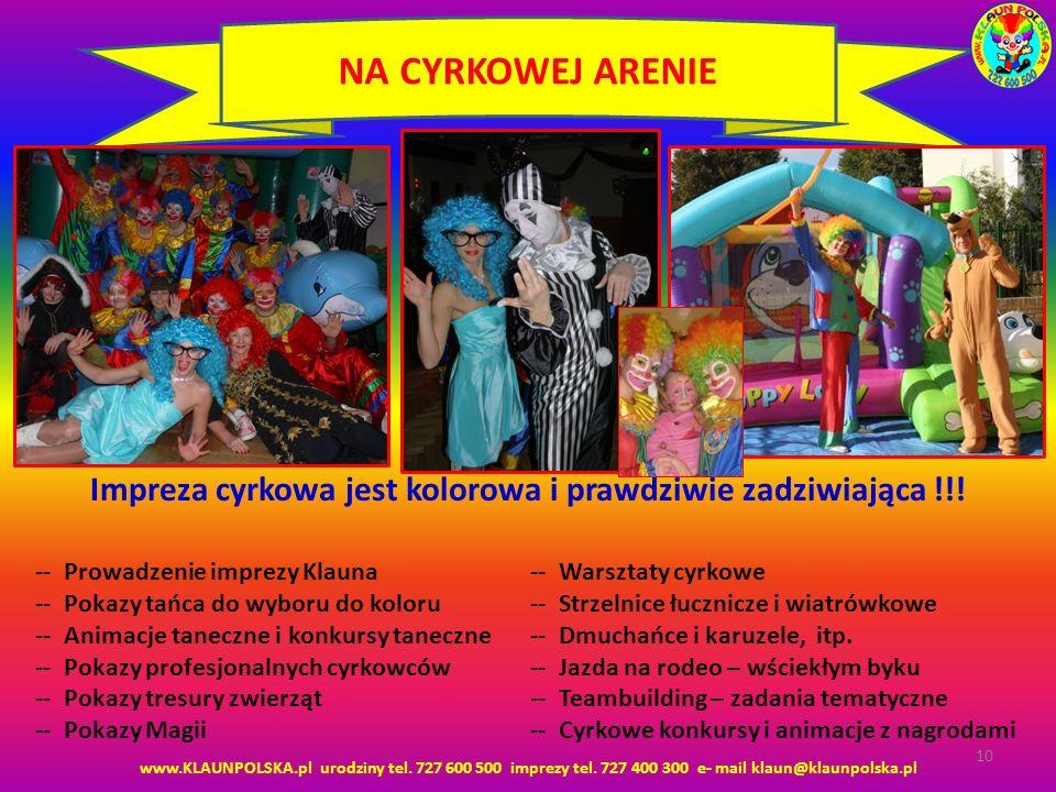 Impreza cyrkowa jest kolorowa i prawdziwie zadziwiająca !!!