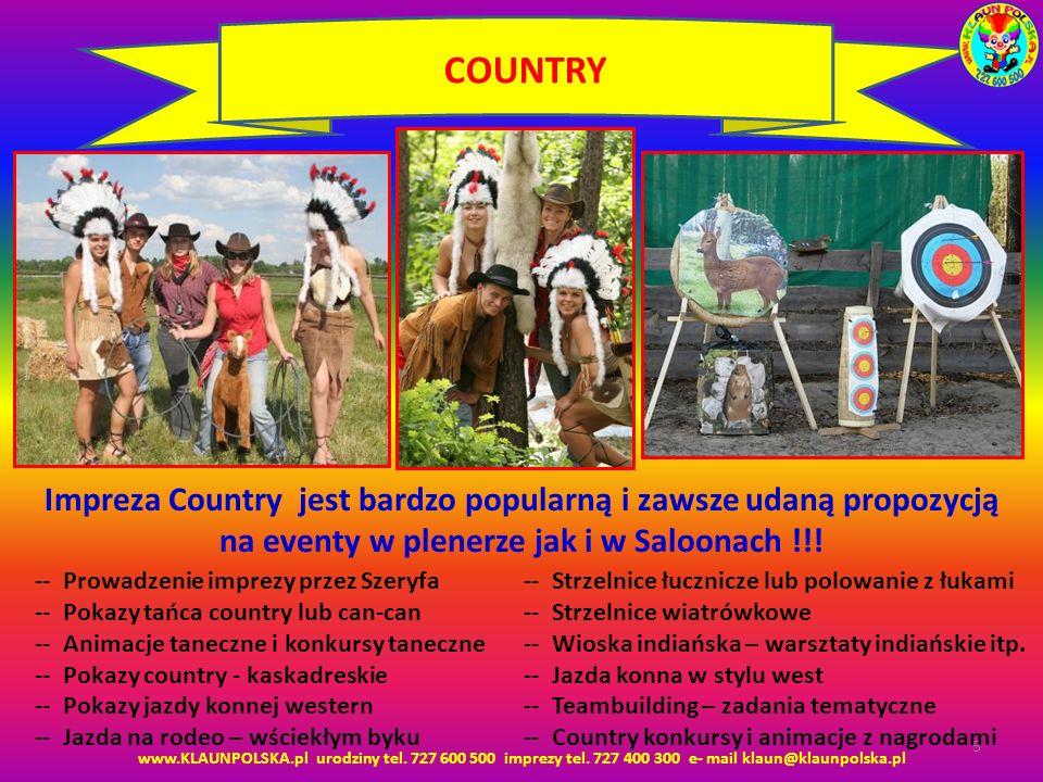 COUNTRY Impreza Country jest bardzo popularną i zawsze udaną propozycją na eventy w plenerze jak i w Saloonach !!!
