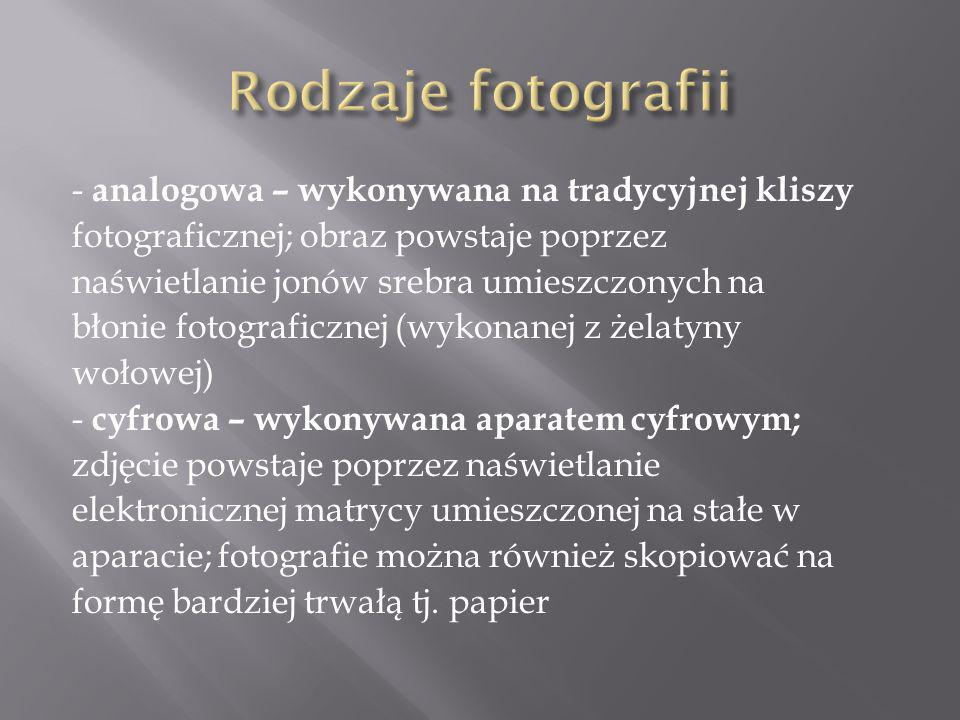 Rodzaje fotografii