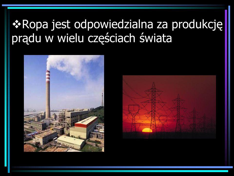 Ropa jest odpowiedzialna za produkcję prądu w wielu częściach świata