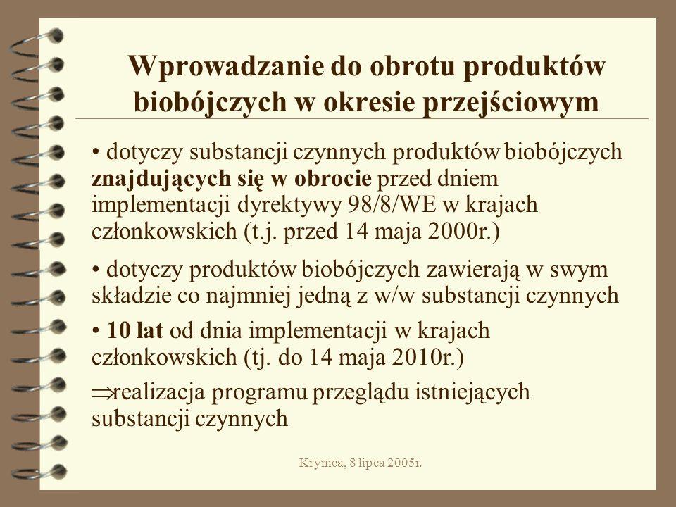 Wprowadzanie do obrotu produktów biobójczych w okresie przejściowym