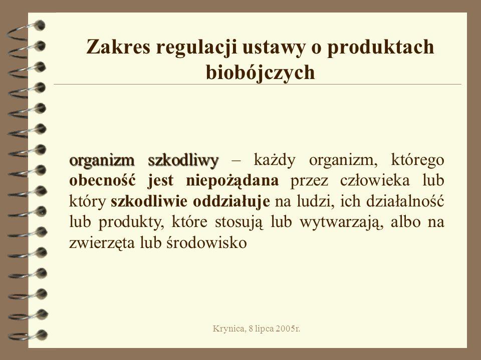Zakres regulacji ustawy o produktach biobójczych