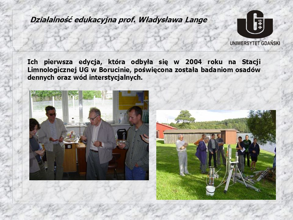 Działalność edukacyjna prof. Władysława Lange