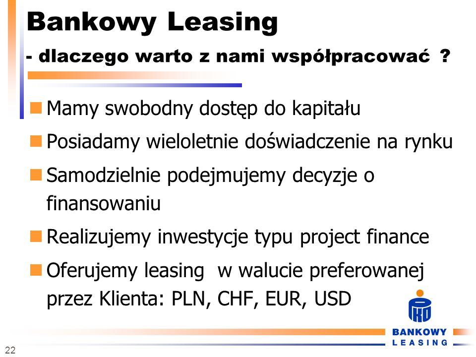 Bankowy Leasing - dlaczego warto z nami współpracować