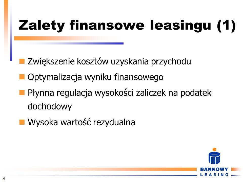 Zalety finansowe leasingu (1)