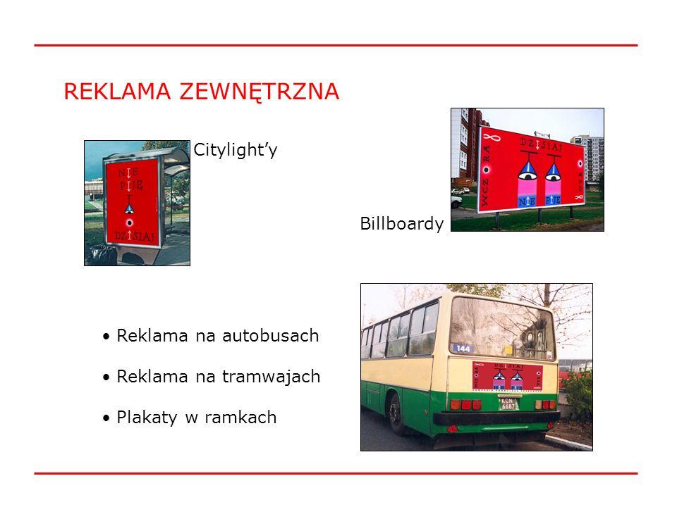 REKLAMA ZEWNĘTRZNA Citylight'y Billboardy Reklama na autobusach