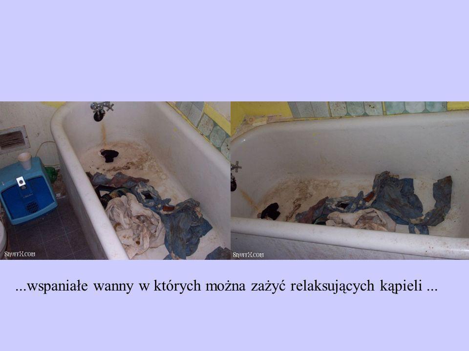 ...wspaniałe wanny w których można zażyć relaksujących kąpieli ...