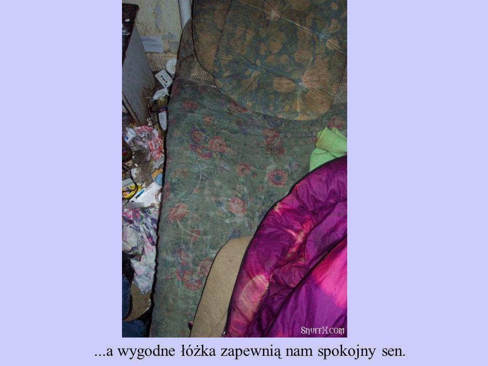 ...a wygodne łóżka zapewnią nam spokojny sen.