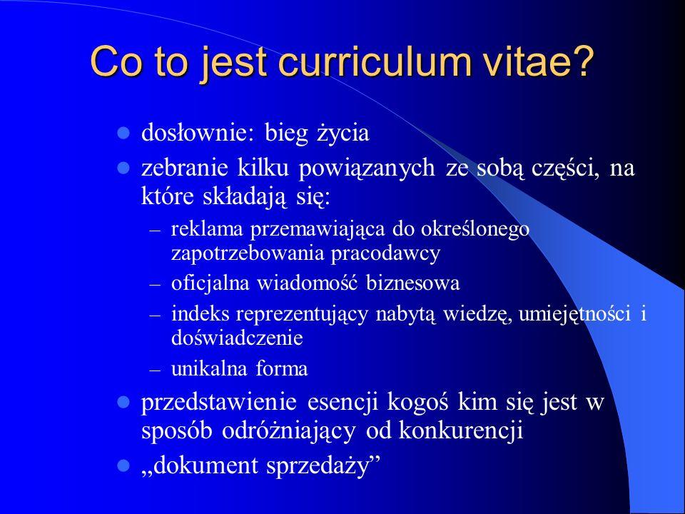 Co to jest curriculum vitae