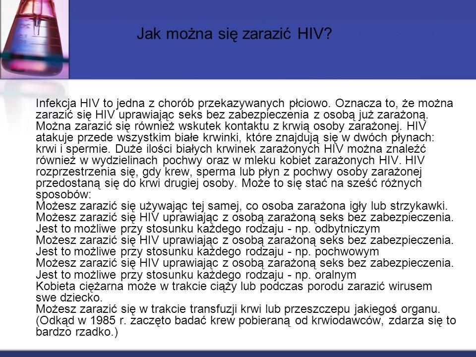 Jak można się zarazić HIV