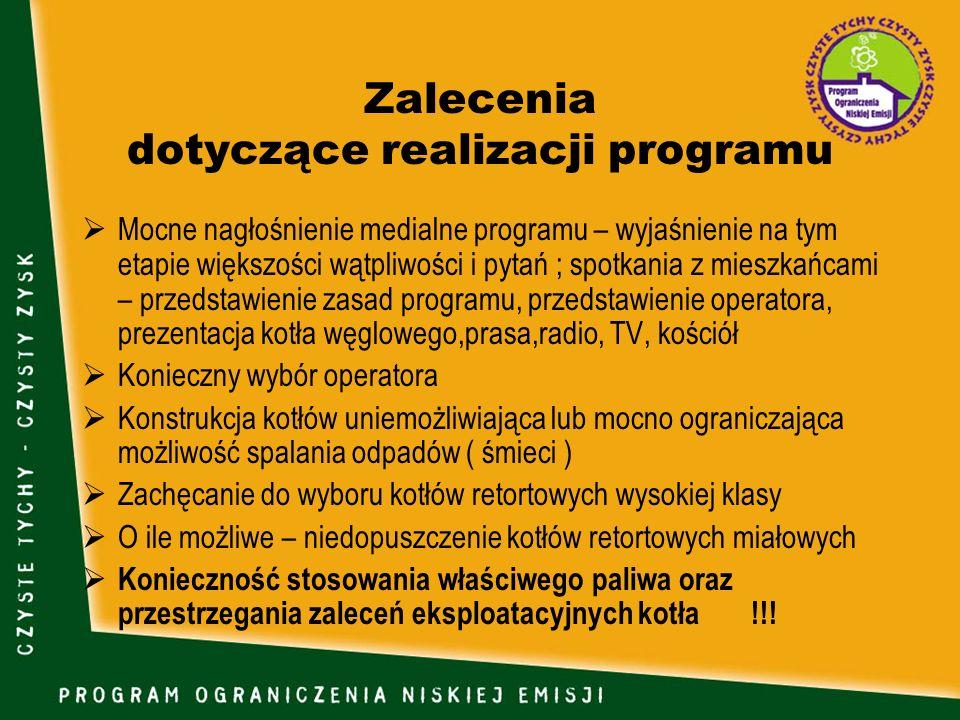 Zalecenia dotyczące realizacji programu