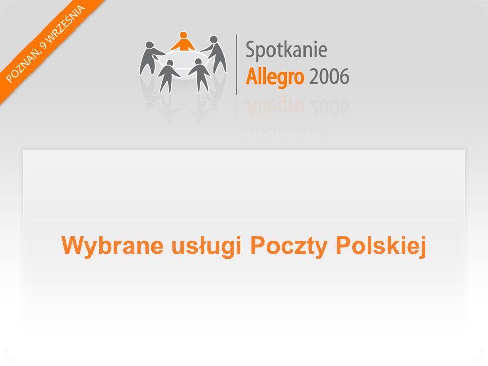 Wybrane usługi Poczty Polskiej