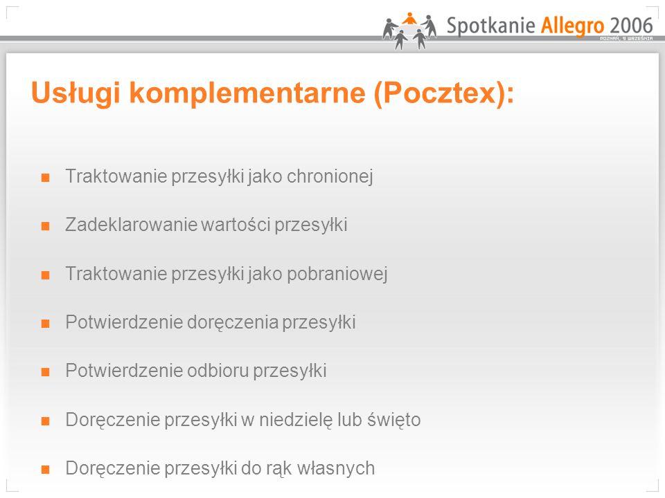 Usługi komplementarne (Pocztex):