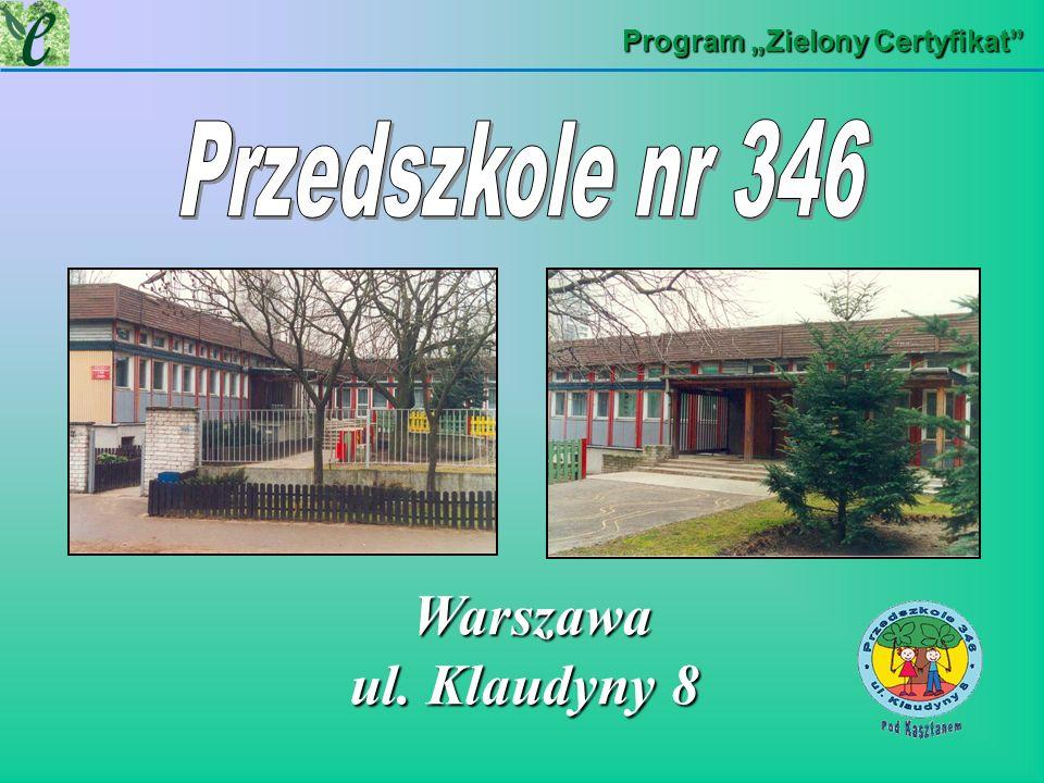 Warszawa ul. Klaudyny 8 Przedszkole nr 346