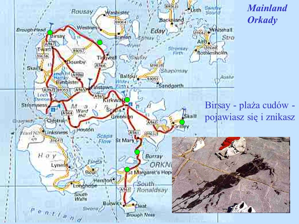 Mainland Orkady Birsay - plaża cudów - pojawiasz się i znikasz