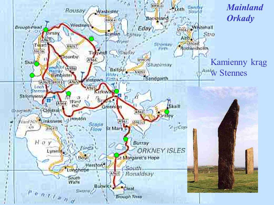 Mainland Orkady Kamienny krąg w Stennes