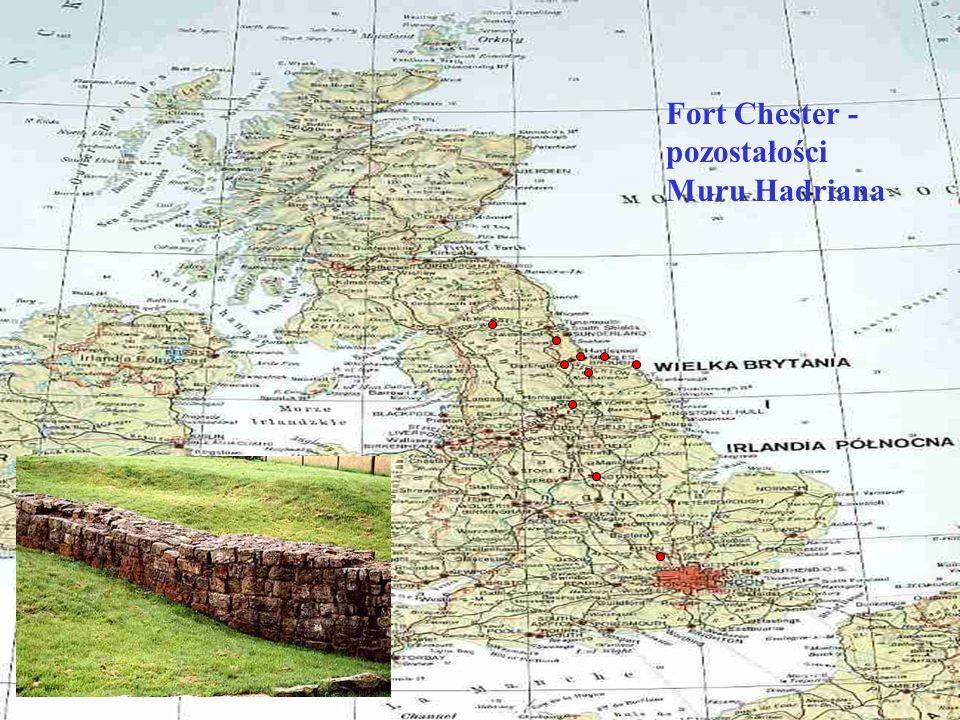 Fort Chester - pozostałości Muru Hadriana