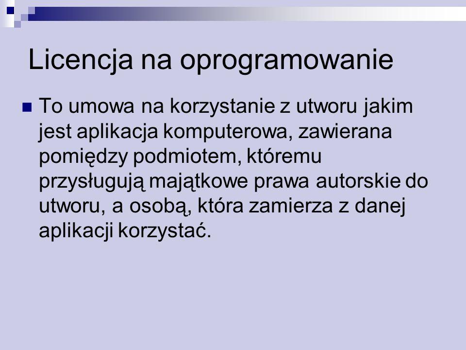 Licencja na oprogramowanie