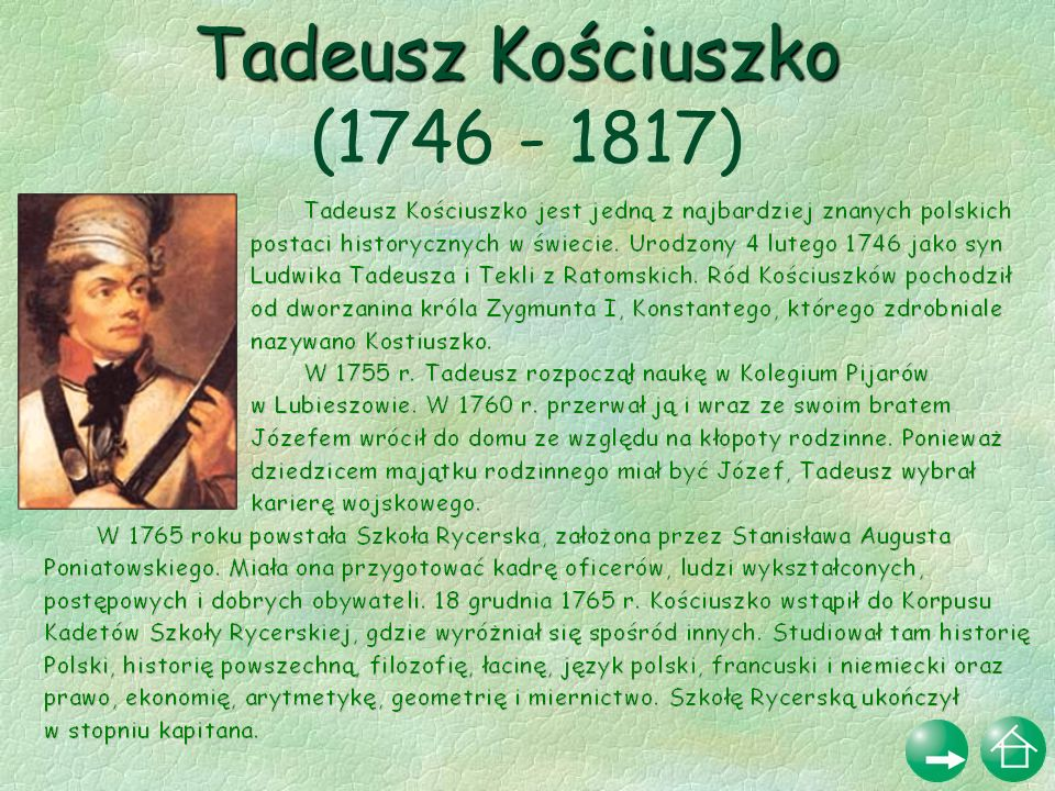 Tadeusz Kościuszko (1746 - 1817)
