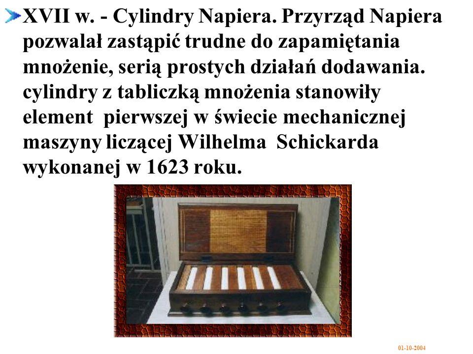 XVII w. - Cylindry Napiera