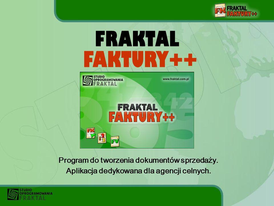 FAKTURY++ FRAKTAL Program do tworzenia dokumentów sprzedaży.