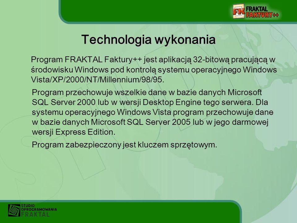 Technologia wykonania
