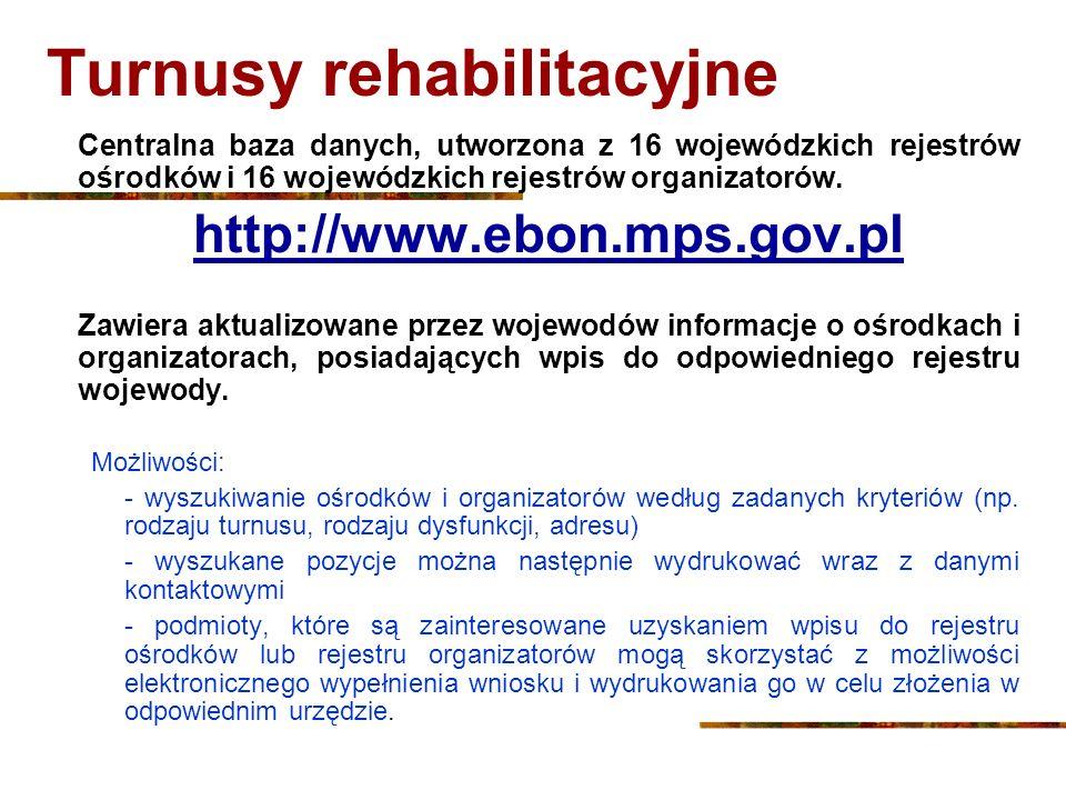 Turnusy rehabilitacyjne