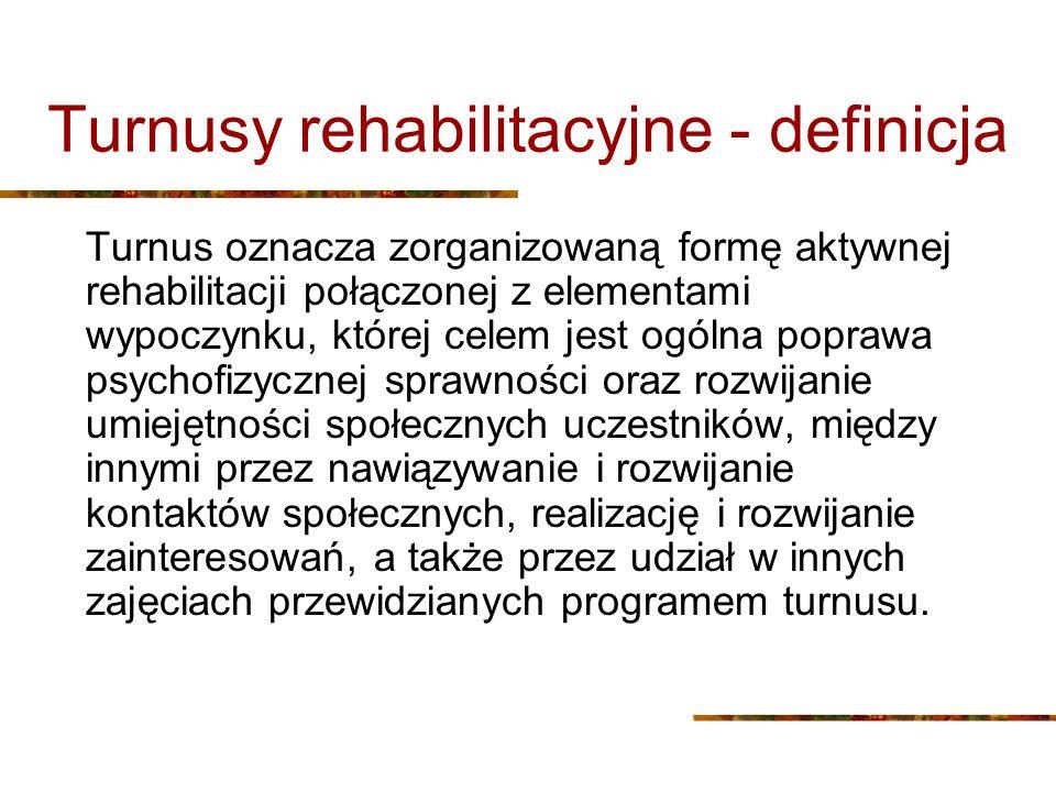 Turnusy rehabilitacyjne - definicja