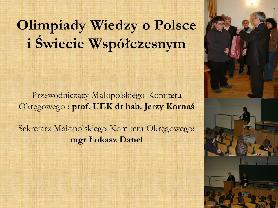 Olimpiady Wiedzy o Polsce i Świecie Współczesnym