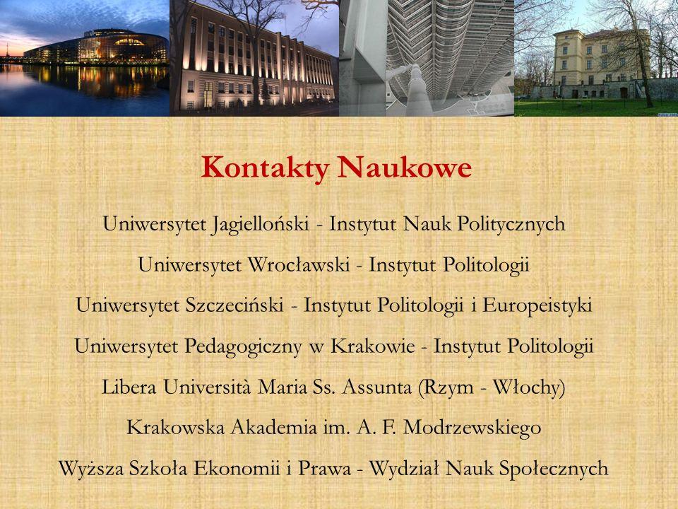 Kontakty Naukowe Uniwersytet Jagielloński - Instytut Nauk Politycznych