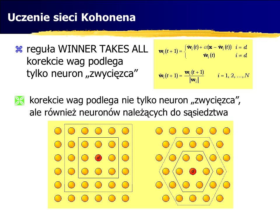 Uczenie sieci Kohonena