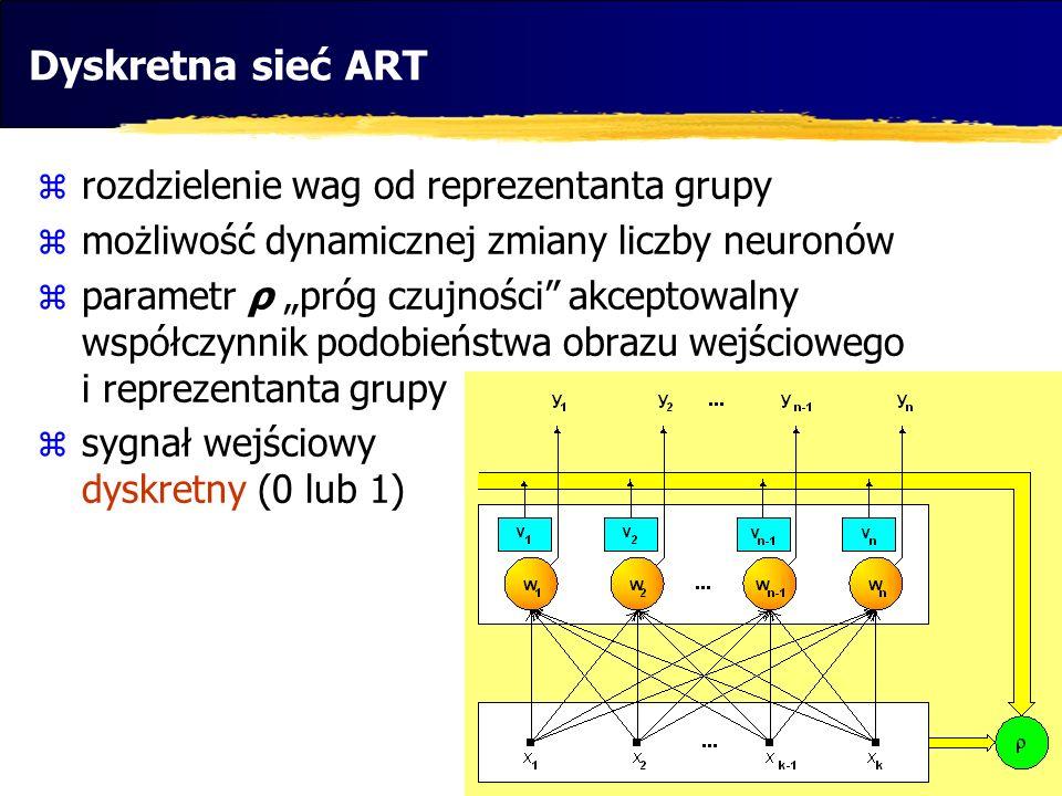 Dyskretna sieć ART rozdzielenie wag od reprezentanta grupy